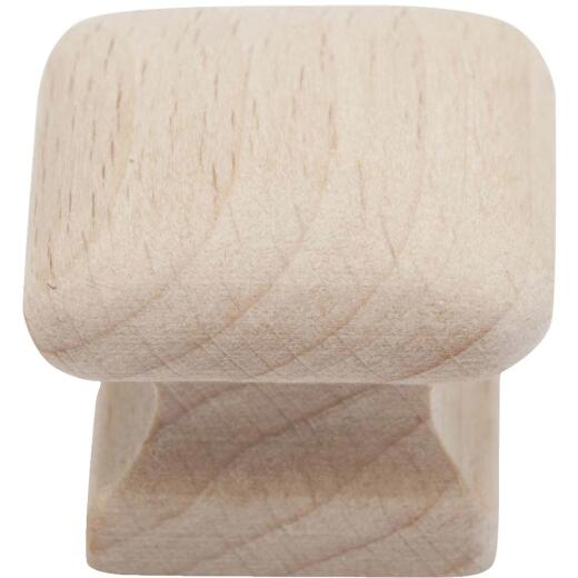 Do it Wood Hardwood Square 2 In. Cabinet Knob, (2-Pack)