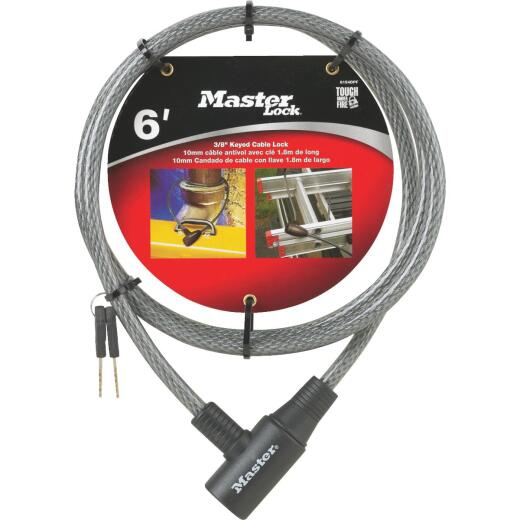 Master Lock 6 Ft. x 3/8 In. Integrated Keyed Cable Lock