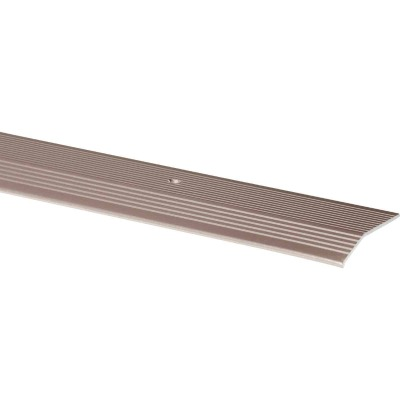M-D Pewter Fluted 1-3/8 In. x 3 Ft. Aluminum Carpet Trim Bar, Wide