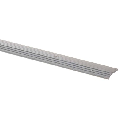 M-D Satin Silver Fluted 7/8 In. x 6 Ft. Aluminum Carpet Trim Bar