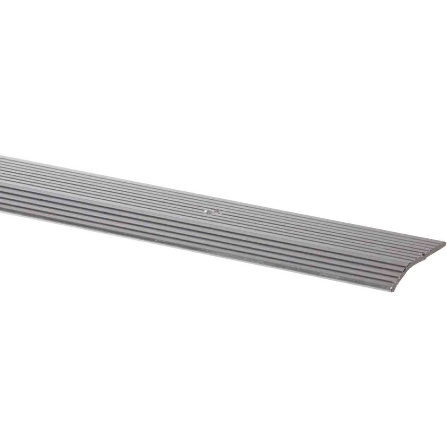 M-D Satin Silver Fluted 1-3/8 In. x 3 Ft. Aluminum Carpet Trim Bar, Wide Image 1
