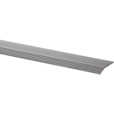 M-D Satin Silver Fluted 1-3/8 In. x 3 Ft. Aluminum Carpet Trim Bar, Wide