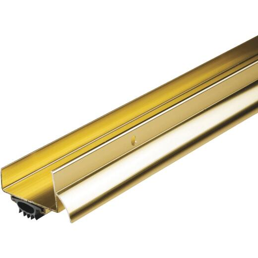 M-D Ultra 2 In. W. x 1.5 In. H. x 36 In. L. Brass Vinyl U-Shaped Door Bottom With Drip Cap