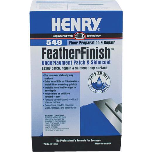 Henry 549 FeatherFinish Underlayment Patch & Skimcoat, Gray, 7 Lbs.