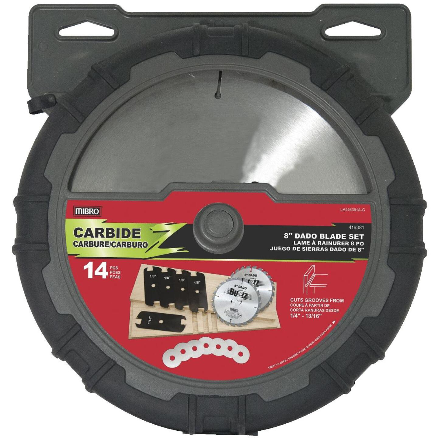Mibro 8 In. Dado Circular Saw Blade Set Image 1
