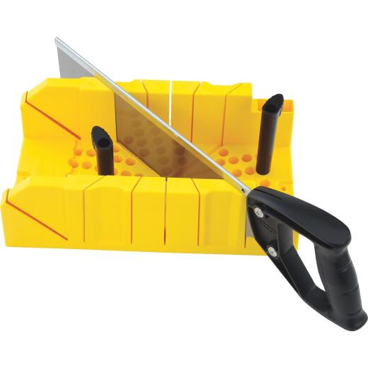 Stanley Plastic Clamping Miter Box & 14 In. Saw