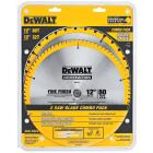 DeWalt Construction 12 In. Assorted Circular Saw Blade Set (2-Pack) Image 1
