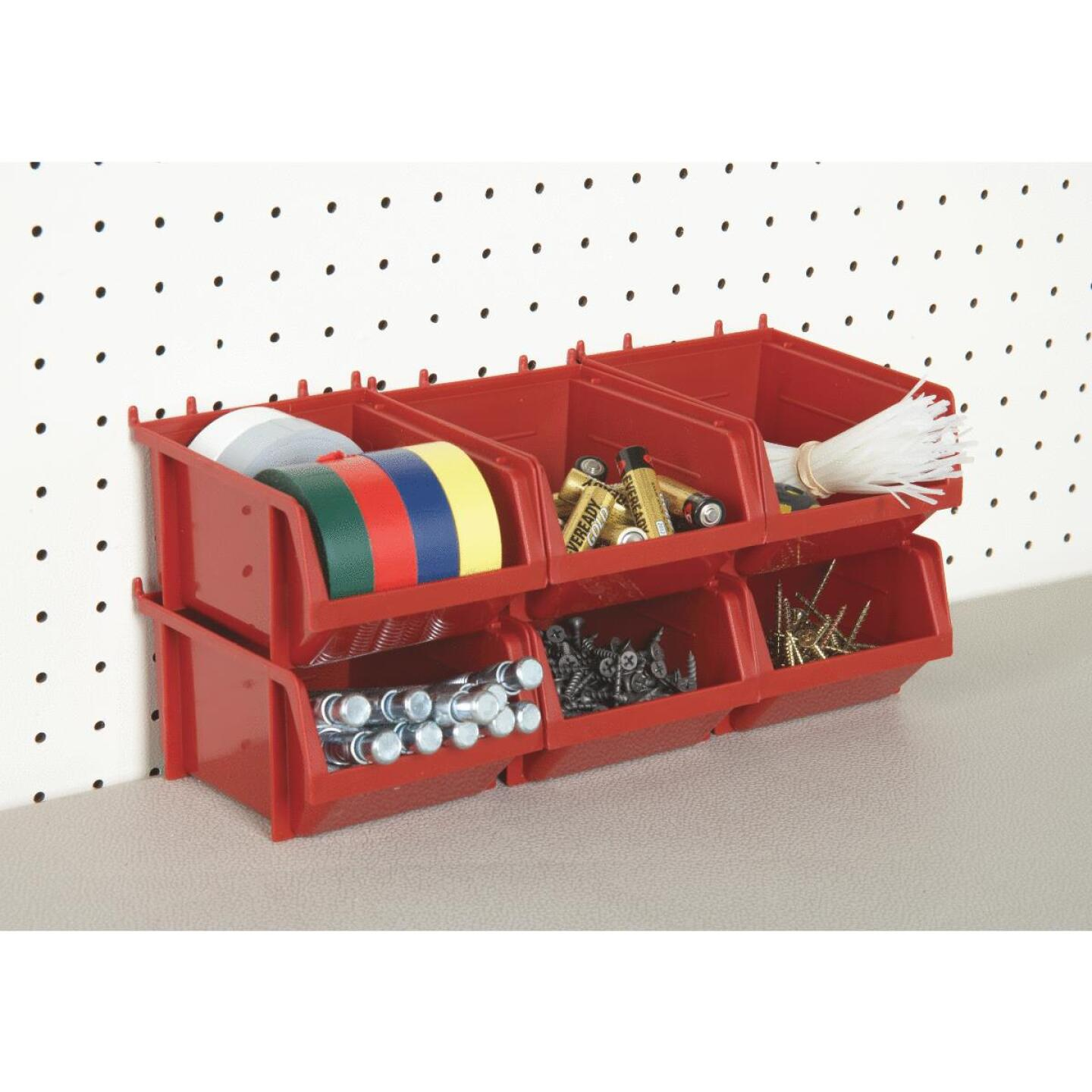 Quantum Storage Small Red Stackable Parts Bin (6-Pack) Image 3