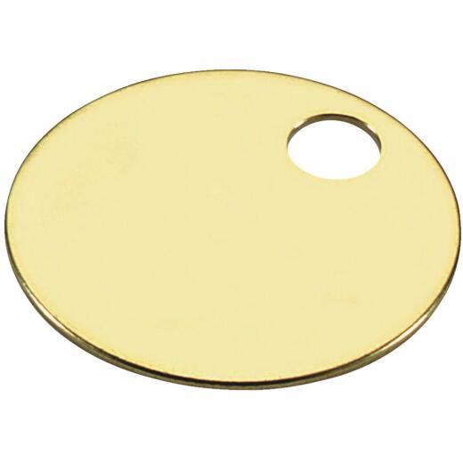 Lucky Line Engravable Tag 1-3/8 In. Brass Key Tag, (100-Pack)