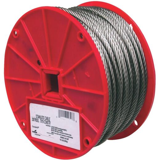 Campbell 5/16 In. x 200 Ft. Stainless Steel Wire Cable