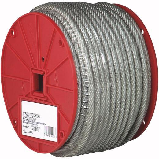 Campbell 3/32 In. x 250 Ft. Vinyl-Coated Galvanized Clothesline Cable