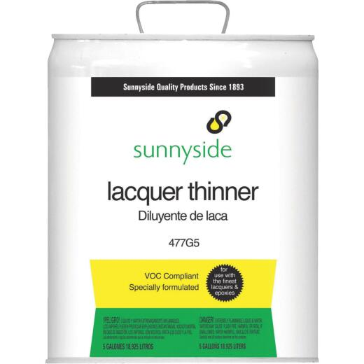 Sunnyside Low VOC Lacquer Thinner, 5 Gallon