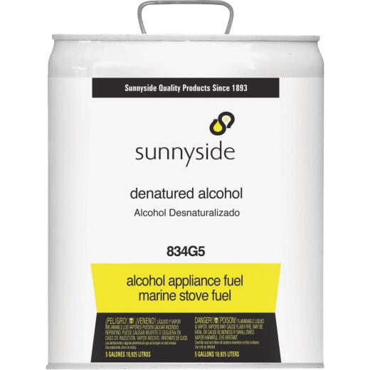Sunnyside Denatured Alcohol Solvent, 5 Gal.