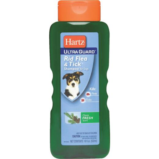 Hartz UltraGuard Rid Flea & Tick 18 Oz. Fresh Scent Dog Shampoo
