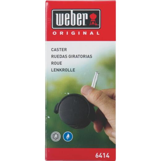 Weber Black Plastic Grill Replacement Caster & Insert