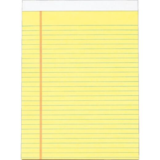 Staples 8-1/2 In. W. x 11 In. H. 50-Sheet Yellow Top Bound Legal Pad (12-Pack)